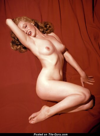 Image. Marilyn Monroe - nude blonde with natural boob vintage