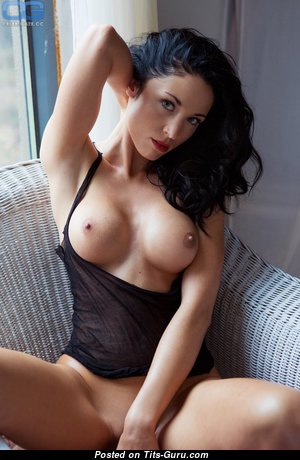 Graceful Topless & Glamour Brunette with Graceful Exposed Silicone Normal Tits & Big Nipples in Lingerie is Undressing (Hd Sexual Photoshoot)