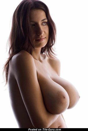 Image. Beautiful girl with huge boob image
