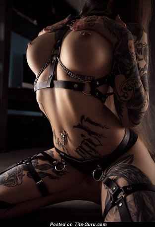 Image. Naked wonderful female with piercing picture