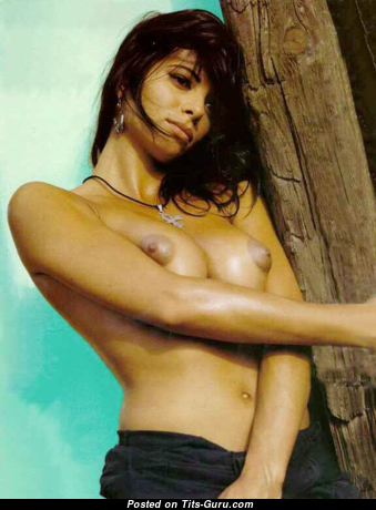 Natalie Estrada - Perfect Topless Moll with Perfect Bald Medium Boobie (Sexual Image)