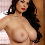 Sexy asian brunette with big boobs image