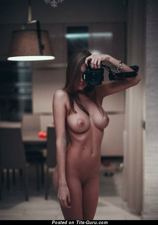 Image. Sexy topless amateur awesome lady selfie