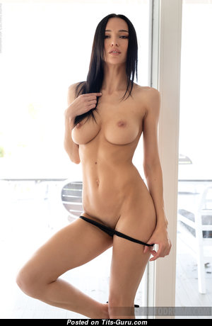 Anastasya B - Beautiful Topless & Glamour Brunette Pornstar with Beautiful Bald Firm Melons, Weird Nipples, Sexy Legs (Hd Porn Pix)