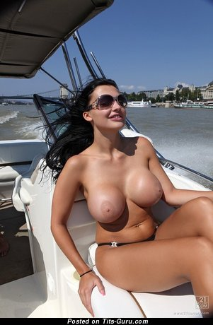 Image. Naked wonderful woman with big fake breast image