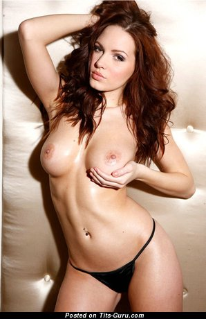 Image. Sabine Jemeljanova - sexy naked brunette with medium natural breast picture