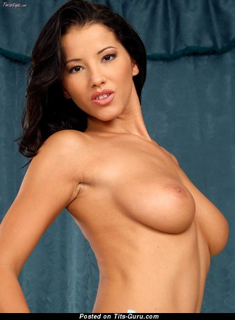 Image. Angel Dark - nude brunette with medium natural tits photo