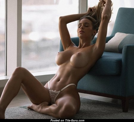 Graceful Brunette Babe with Graceful Nude C Size Knockers (Sexual Picture)