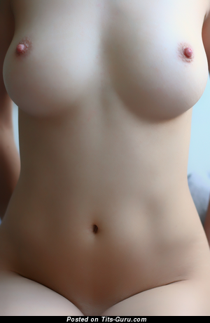 Amateur naked hot girl with medium natural boobs picture