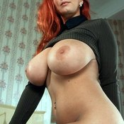Red hair with big boobs picture