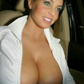 Hot lady with huge boob picture
