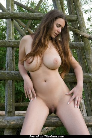 Appealing Moll with Appealing Naked Natural Very Big Boobies (Hd Sexual Photoshoot)