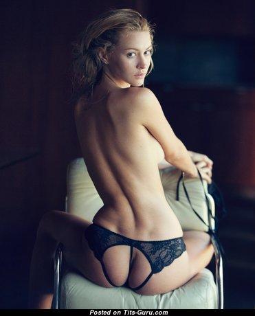 Topless nice woman photo