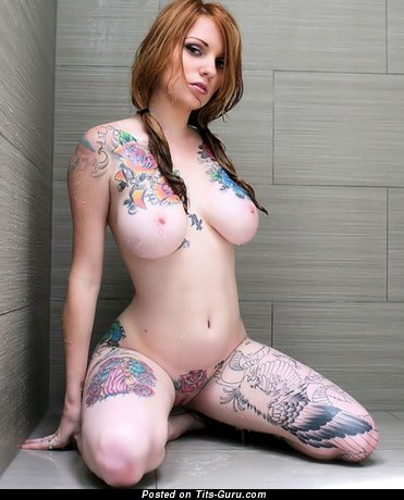 Image. Tatoo - naked hot female with big breast picture
