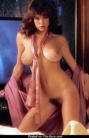 Candy Loving - sexy naked brunette with medium natural tittys vintage