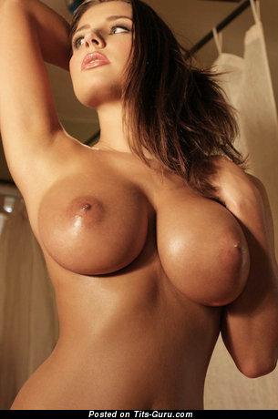 Image. Naked amazing female with medium boob picture