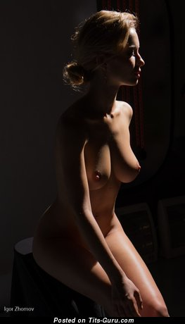 Image. Nude awesome female with medium natural tittys picture