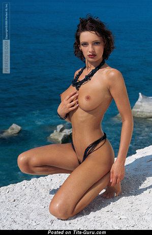 Alexandra Berejnova - nude nice girl with medium natural breast pic