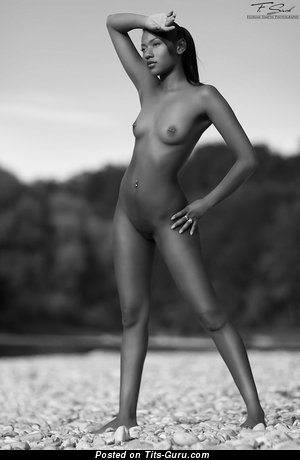 Image. Naked amazing lady with small natural tittes photo