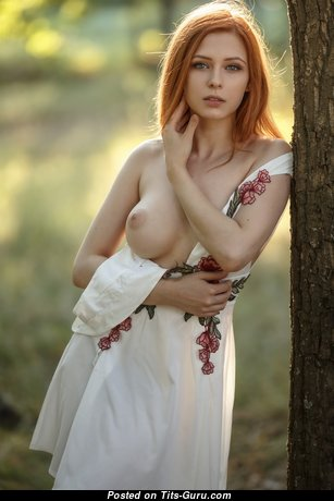Lovely Glamour Red Hair with Lovely Nude Real Poor Breasts (Hd Sex Picture)