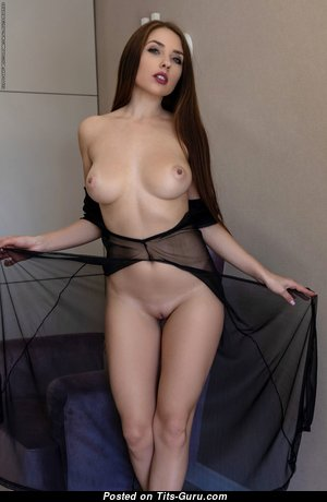 Niemira - Lovely Ukrainian Red Hair with Lovely Exposed Real Tit & Erect Nipples (Hd Sex Image)