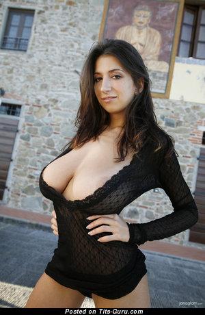 Image. Jana Defi - naked brunette with huge natural tittes pic
