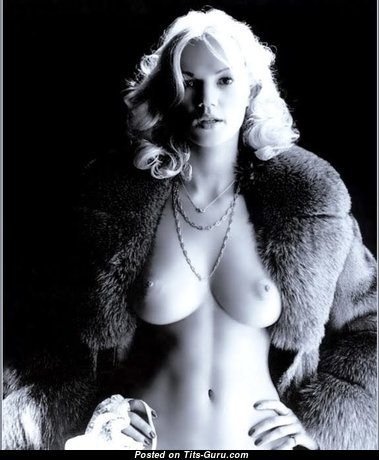 Brigitte Lahaie - Sexy Topless French Blonde Pornstar with Sexy Bald Real Medium Sized Boobys (Vintage Porn Image)