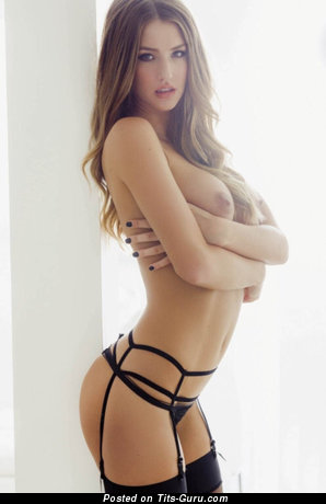 Image. Danica Thrall - topless blonde with medium natural tots pic