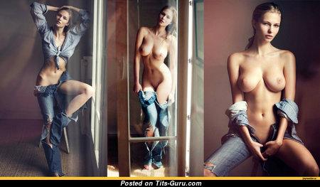 Karolina Szymczak - Gorgeous Polish Babe with Gorgeous Bare Tight Chest (Hd Sex Image)