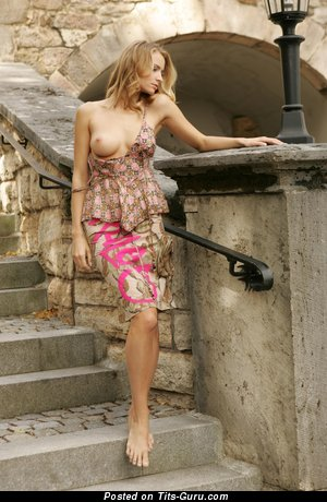 Fascinating Blonde with Fascinating Defenseless Natural D Size Jugs (Hd 18+ Photoshoot)