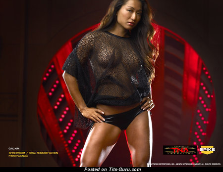 Gail Kim - Elegant South Korean, Canadian Brunette with Elegant Nude Fake Jugs (Sex Pix)