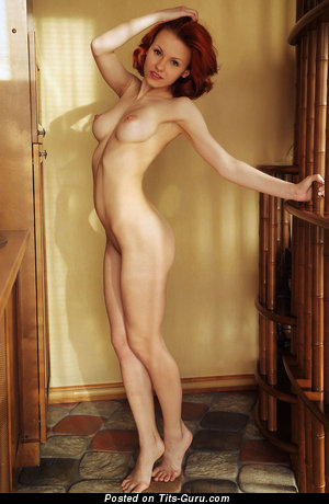 Image. Nude hot woman with medium natural breast photo