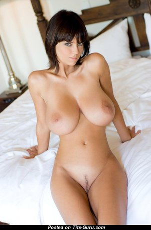 Appealing Brunette Babe with Appealing Bald Very Big Tots (Hd Xxx Photo)