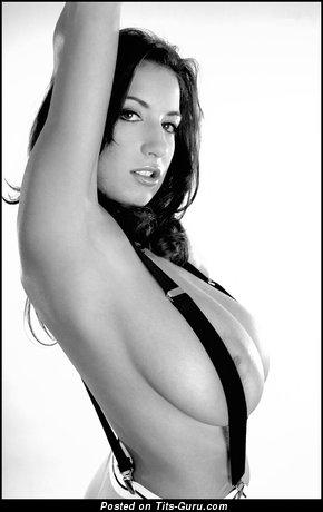 Image. Jana Defi - naked brunette with huge natural boobs image