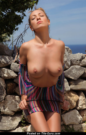 Image. Nude amazing female with medium natural boobies pic