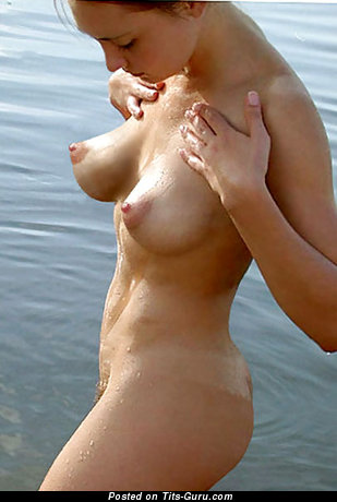 Image. Nude hot lady with big natural boob pic