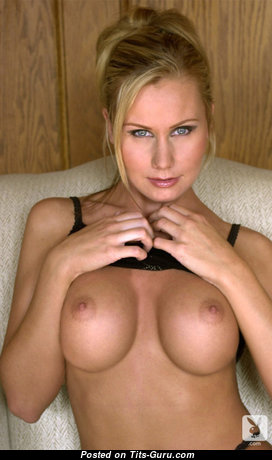Delightful Playboy Blonde with Delightful Naked Silicone D Size Boobie & Big Nipples (Sexual Pix)