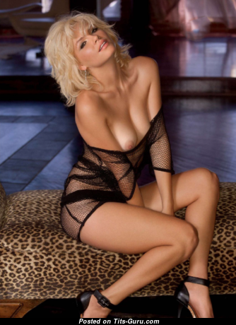 Britany Nola - Good-Looking Topless & Non-Nude Playboy Blonde with Good-Looking Natural Titties & Sexy Legs in Lingerie is Smoking (Porn Pic)