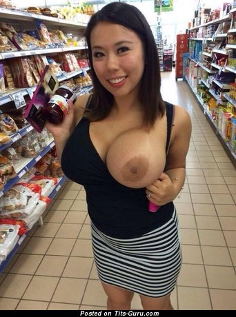 Image. Amateur nude asian with natural tots and big nipples photo