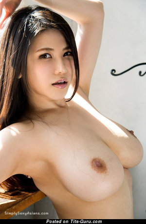 Anri Okita - Exquisite Topless Japanese, British Brunette Pornstar & Babe with Exquisite Open Natural Average Busts (Hd Porn Foto)