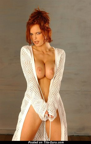 Image. Zuzana Drabinova - naked red hair with big boob picture