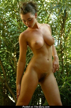 Lovely Topless Brunette with Lovely Bare Firm Busts (18+ Pix)