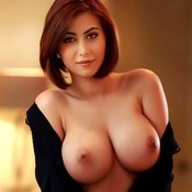 Sexy nude awesome lady with medium tits photo