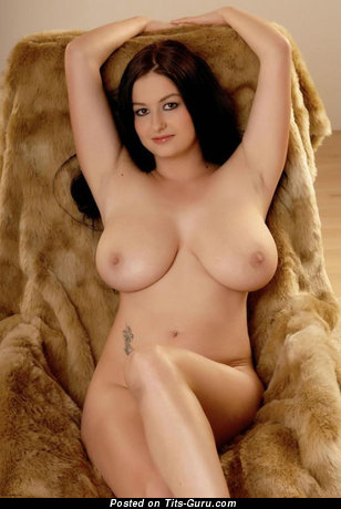 Image. Nude brunette with big natural tots pic