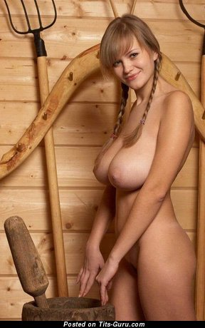 Image. Nude nice female with big natural boobs pic