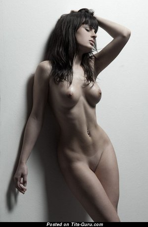 Image. Naked beautiful girl with medium boob pic