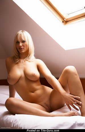 Image. Sexy naked blonde with big natural boobies picture