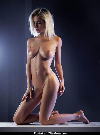 Natalia Andreeva - Hot Glamour & Topless Blonde with Hot Bald Medium Sized Tittes, Erect Nipples, Sexy Legs (Hd 18+ Picture)