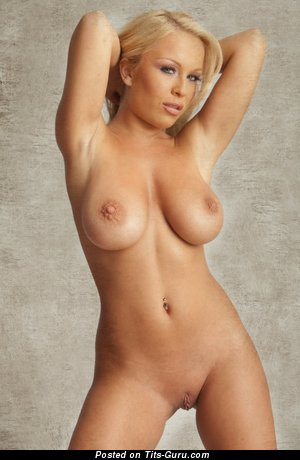 Akissa: naked blonde with medium boobies image