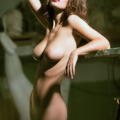 Sexy wonderful lady with medium natural boobies picture